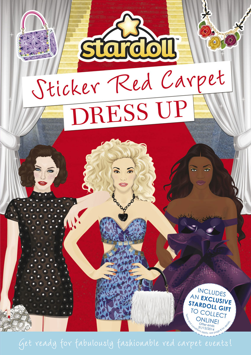 Stardoll: Sticker Red Carpet Dress Up toys galore