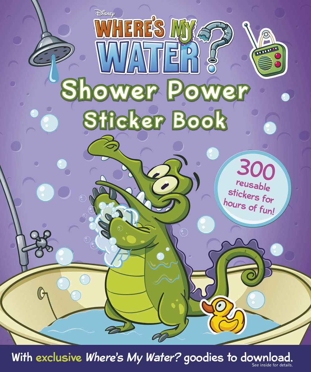 Where's My Water: Shower Power Sticker Book bugs sticker book 400 reusable stickers