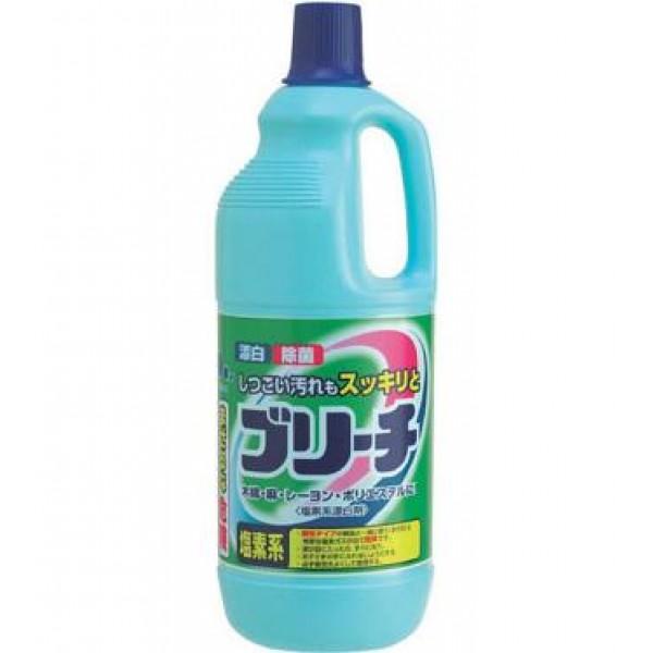 Отбеливатель для одежды Mitsuei, хлорный, 1,5 л060014Средство вернет вашим вещам сверкающую белизну. Идеально для изделий из хлопка, полиэстера, вискозы и льна. Прекрасно справляется с загрязнениями и пятнами на воротничках и манжетах белых рубашек. Удаляет любые пятна. Придает Вашим вещам приятный аромат чистоты и свежести.Способ применения: При стирке белых вещей к порошку добавить отбеливатель из расчета: на 1л. воды - 20мл. (1 колпачек) отбеливателя.Состав: гипохлорид натрия (хлористый), гидроксид натрия.