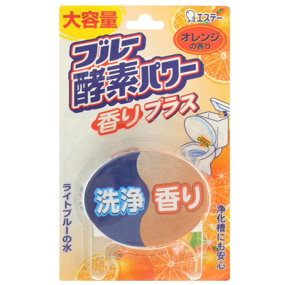 Таблетка очищающая ST Blue Enzyme Power для бачка унитаза, с ароматом апельсина, 120 г115426Ароматизирующая таблетка ST Blue Enzyme Power с ферментам, предназначена для очищения и дезинфекции унитаза. Таблетка для унитаза содержит энзимы, расщепляющие стойкие загрязнения. Таблетка создает ощущение чистоты и свежести, распространяя аромат апельсина и окрашивая воду в голубой цвет. Достаточно положить таблетку в сливной бачок и вода голубого цвета вымоет и продезинфицирует внутреннюю часть унитаза. В состав входит хелатный агент, который обволакивает взвесь грязи в воде, а также удаляет ржавчину и препятствует загрязнению внутренней поверхности унитаза. Большой объем продукта гарантирует длительное использование.Не кладите таблетку в центр бачка, чтобы избежать закупоривания. Не хранить в местах, доступных для детей. Хранить при комнатной температуре вдали от отопительных приборов и действия прямых солнечных лучей.Состав: отдушка, анионное поверхностно-активное вещество, краситель, хелатный агент, энзимы, отбеливатель.Товар сертифицирован. Как выбрать качественную бытовую химию, безопасную для природы и людей. Статья OZON Гид