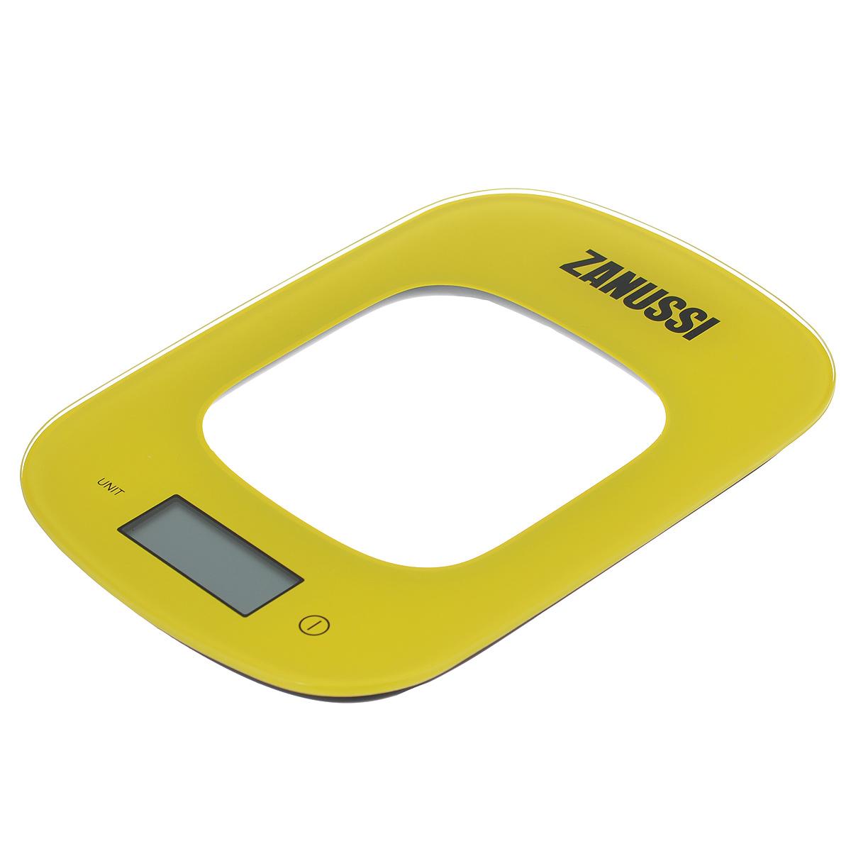 Весы кухонные Zanussi Venezia, электронные, цвет: желтый, до 5 кг. ZSE22222CFZSE22222CFЭлектронные кухонные весы Zanussi Venezia придутся по душе каждой хозяйке и станут незаменимым аксессуаром на кухне. Ультратонкий корпус весов выполнен из пластика с цифровым ЖК-дисплеем. Весы выдерживают до 5 килограмм и оснащены высокоточной сенсорной измерительной системой. Имеется индикатор низкого заряда батареи.С помощью таких электронных весов можно точно контролировать пропорции ингредиентов.УВАЖАЕМЫЕ КЛИЕНТЫ!Обращаем ваше внимание, что весы работают от одной литиевой батарейки CR2032 напряжением 3V (входит в комплект).