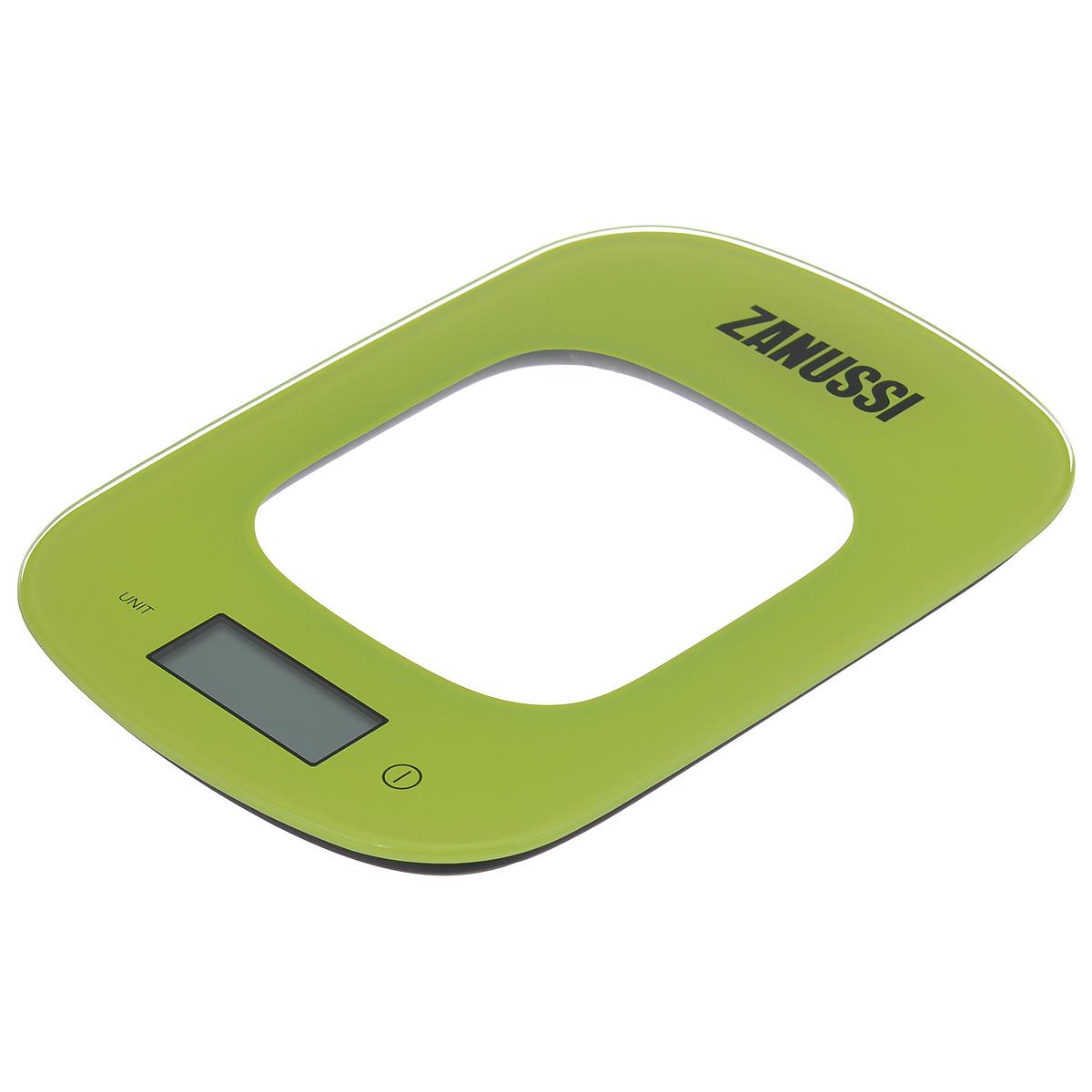Весы кухонные Zanussi Venezia, электронные, цвет: зеленый, до 5 кгZSE22222DFЭлектронные кухонные весы Zanussi Venezia придутся по душе каждой хозяйке и станут незаменимым аксессуаром на кухне. Ультратонкий корпус весов выполнен из пластика с цифровым ЖК-дисплеем. Весы выдерживают до 5 килограмм и оснащены высокоточной сенсорной измерительной системой. Имеется индикатор низкого заряда батареи.С помощью таких электронных весов можно точно контролировать пропорции ингредиентов.УВАЖАЕМЫЕ КЛИЕНТЫ!Обращаем ваше внимание, что весы работают от одной литиевой батарейки CR2032 напряжением 3V (входит в комплект).