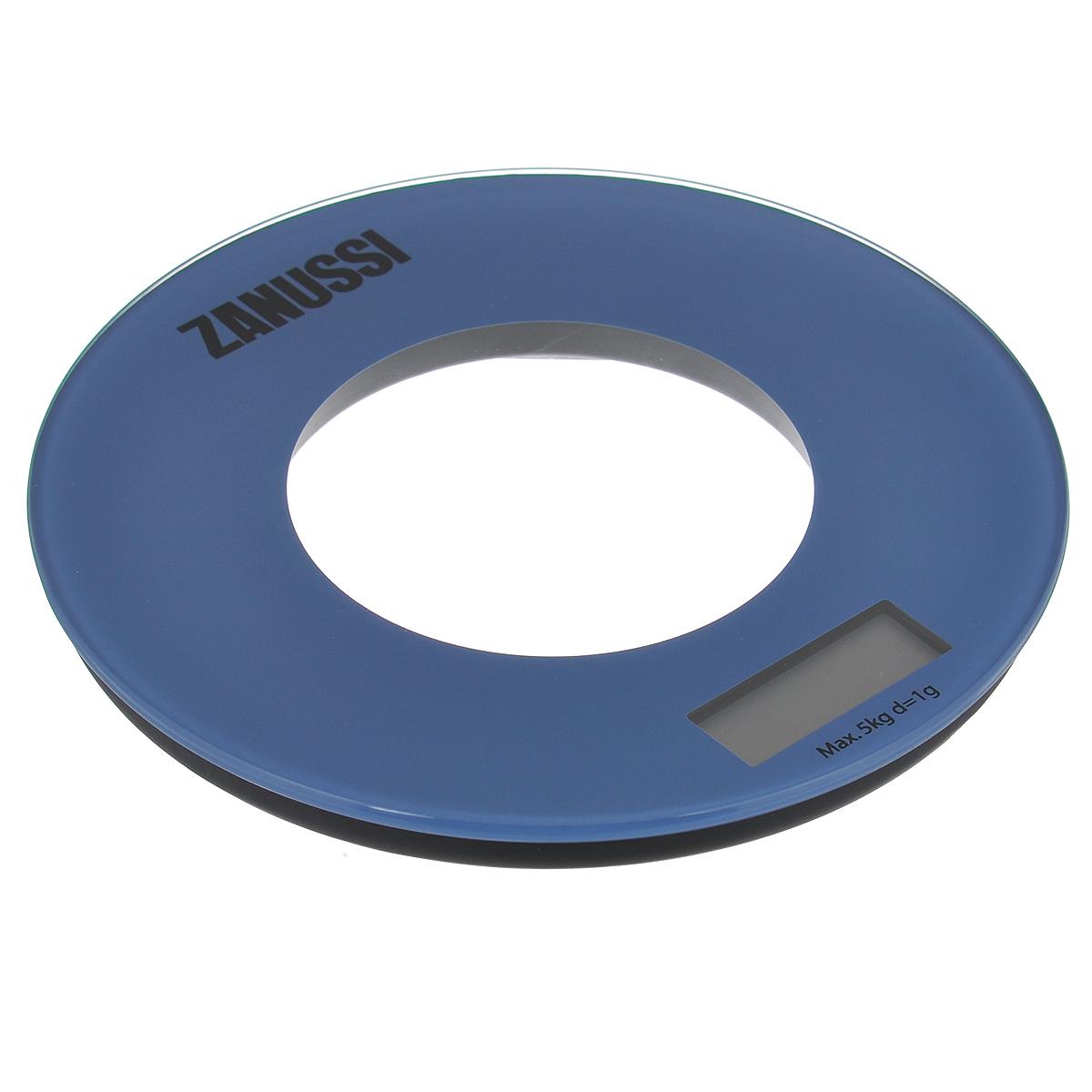Весы кухонные Zanussi  Bologna , электронные, цвет: синий, до 5 кг - Кухонные весы
