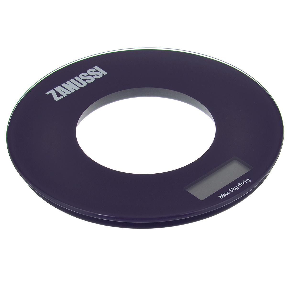Весы кухонные Zanussi  Bologna , электронные, цвет: фиолетовый, до 5 кг - Кухонные весы