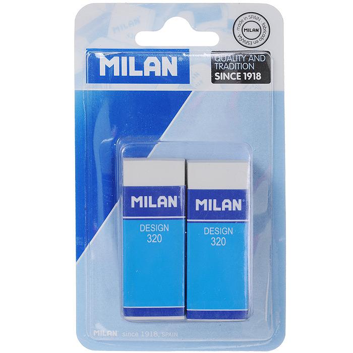 Набор ластиков Milan, 2 шт. 2*320//30BL2320/10042 milan набор ластиков 124 цвет белый зеленый 3 шт