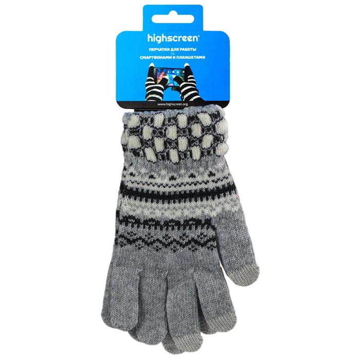 Highscreen Pineapple Series перчатки для сенсорных экранов, Gray (ID03-132GRY)