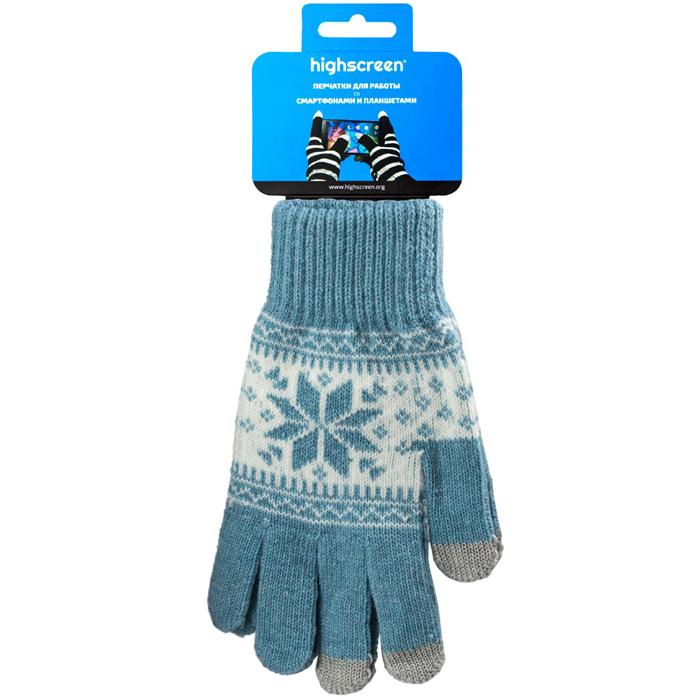 Highscreen Snowflake Series перчатки для сенсорных экранов, Light Blue (ID03-101LBLU)22327Перчатки Highscreen Snowflake Series - специально предназначены для работы со смартфонами и планшетами в холодное время года. Кончики пальцев прошиты по специальной технологии, что позволяет работать с сенсорными экранами, не снимая перчаток. Универсальный размер, дизайн подходит как для женщин, так и для мужчин. Размер L.