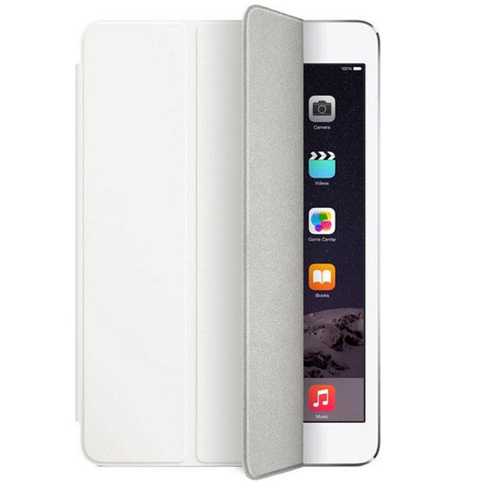 Apple Smart Cover чехол для iPad mini 3, WhiteMGNK2ZM/AApple Smart Cover - стильный чехол, который надежно защитит переднюю панель вашего iPad mini от царапин, пыли и грязи.Чехол Smart Cover изготовлен из полиуретана и доступен в нескольких изысканных цветах. Его мягкая подкладка из микрофибры помогает поддерживать экран в чистоте. При открытии чехла iPad mini с дисплеем Retina автоматически выходит из режима сна, а при закрытии моментально возвращается в режим сна.Продуманная конструкция чехла позволяет сложить его и превратить в идеальную подставку для общения в FaceTime и просмотра фильмов. Чехол Smart Cover также может служить подставкой для набора текста. Сложите его, чтобы установить iPad mini под удобным углом наклона.