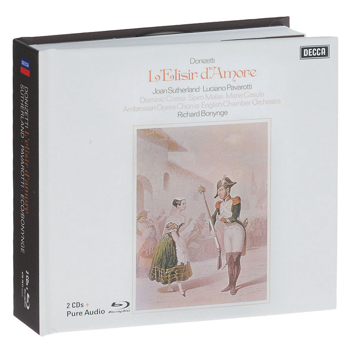 Bonus Blu-ray содержит:  Donizetti: L'Elisir D'amoreUltra High Quality Audio No Video Content Language And Audio Content: Английский / PCM 2.0 / Dolby True HD