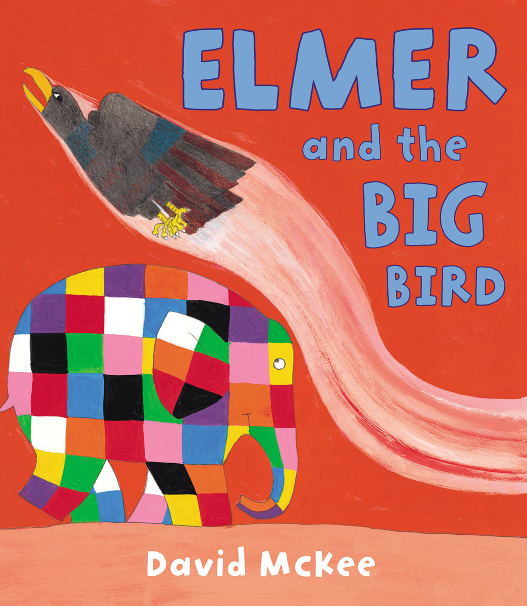 Elmer and the Big Bird elmer in the snow