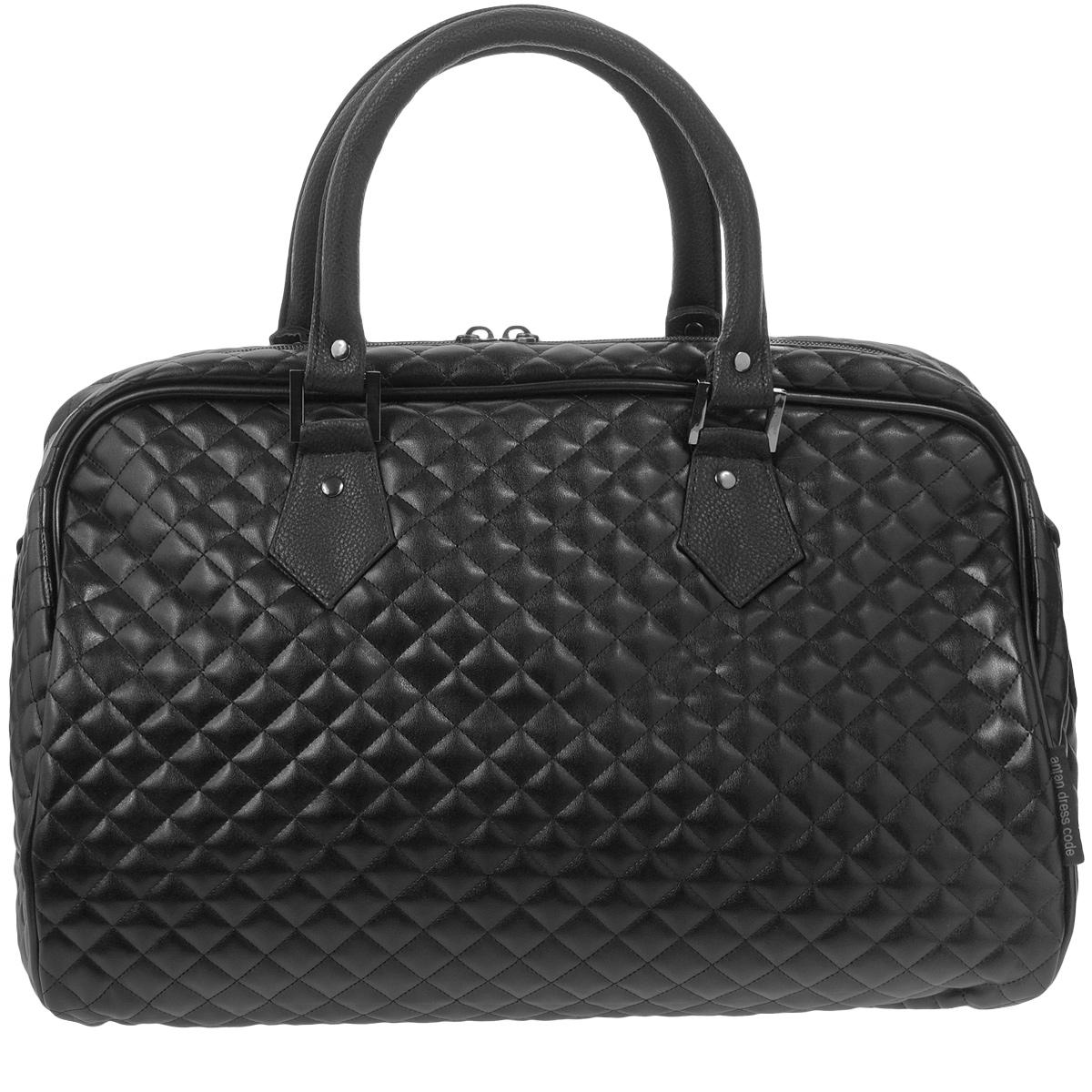 Сумка дорожная Antan, цвет: черный. 2-137 В стеганая сумка antan венеция цвет черный 3 37