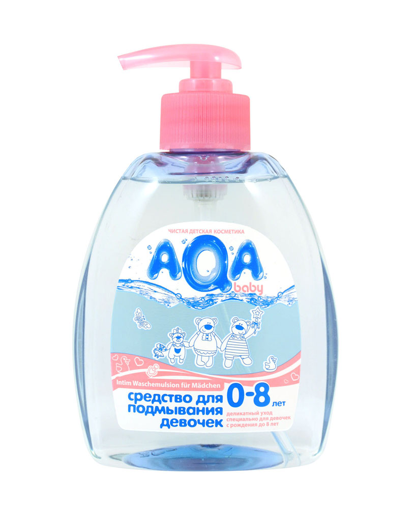 AQA baby Средство для подмывания девочек, от 0 до 8 лет, 300 мл009411Средство для подмывания девочек учитывает особенности вагинальной микрофлоры, очень неустойчивой и незащищенной в данный возрастной период. Уникальный состав с полезным пребиотиком регулирует баланс, восстанавливая естественное равновесие и соотношение микрофлоры. Мягко очищает, не нарушая естественный рН-баланс интимной зоны у маленьких девочек. Экстракты ромашки, лаванды и календулы обладают выраженным антибактериальным и противовоспалительным действием. Средство для подмывания девочек AQA baby разработано при сотрудничестве с детскими гинекологами специально для ухода и очищения интимной зоны данного возрастного периода и полностью учитывает все особенности. 100% безопасно: не содержит SLES, SLS, парабенов, феноксиэтанола, формальдегида, продуктов нефтепереработки. Без красителей, не тестируется на животных. Товар сертифицирован.
