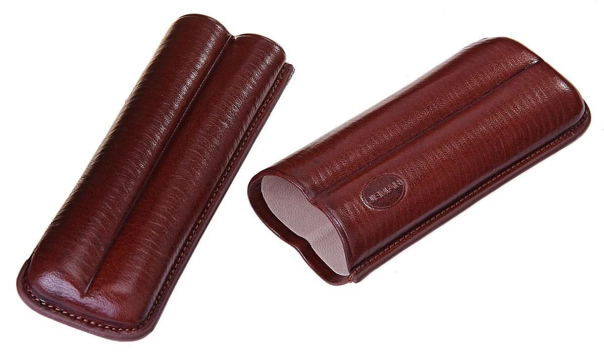 Портсигар Jemar, для 2 сигар диаметром 1,8 см. 711936Натуральная кожаЭлегантный портсигар Jemar выполнен в виде футляра изнатуральной кожи. Изделие рассчитано на 2 сигары.Футляр для переноски сигар - неотъемлемая составляющая церемониала курениясигар, очень важная деталь, которая привносит в процесс особый шик.Портсигар Jemar послужит прекрасным подарком для тонких ценителей техсамых небольших мелочей, которые придают имиджу неповторимую изысканностьи индивидуальность вашей жизни.Размер портсигара: 14,5 см х 5 см х 2,7 см.Диаметр отверстия для сигары: 1,8 см.