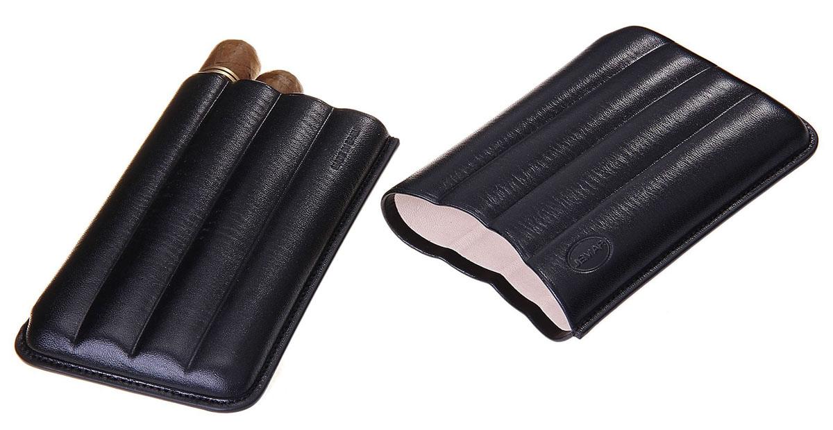Портсигар Jemar, для 4 сигар диаметром 1,8 см. 711943Натуральная кожаЭлегантный портсигар Jemar выполнен в виде футляра из натуральной кожи. Изделие рассчитано на 4 сигары.Футляр для переноски сигар - неотъемлемая составляющая церемониала курения сигар, очень важная деталь, которая привносит в процесс особый шик.Портсигар Jemar послужит прекрасным подарком для тонких ценителей тех самых небольших мелочей, которые придают имиджу неповторимую изысканность и индивидуальность вашей жизни.Размер портсигара: 14 см х 8,5 см х 2,5 см.Диаметр отверстия для сигары: 1,8 см.