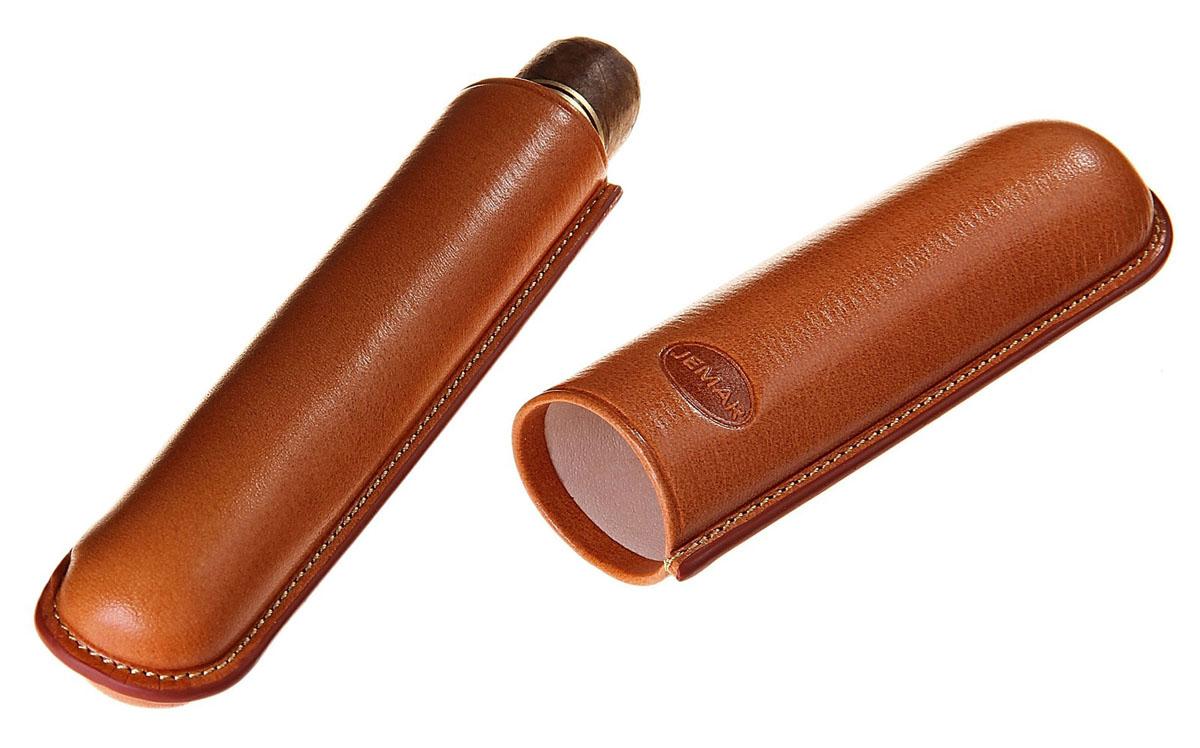 Портсигар Jemar, для 1 сигары диаметром 2,1 см. 711959Натуральная кожаЭлегантный портсигар Jemar выполнен в виде футляра изнатуральной кожи. Изделие рассчитано на 1 сигару.Футляр для переноски сигар - неотъемлемая составляющая церемониала курениясигар, очень важная деталь, которая привносит в процесс особый шик.Портсигар Jemar послужит прекрасным подарком для тонких ценителей техсамых небольших мелочей, которые придают имиджу неповторимую изысканностьи индивидуальность вашей жизни.Размер портсигара: 14 см х 3,5 см х 2,5 см.Диаметр отверстия для сигары: 2,1 см.