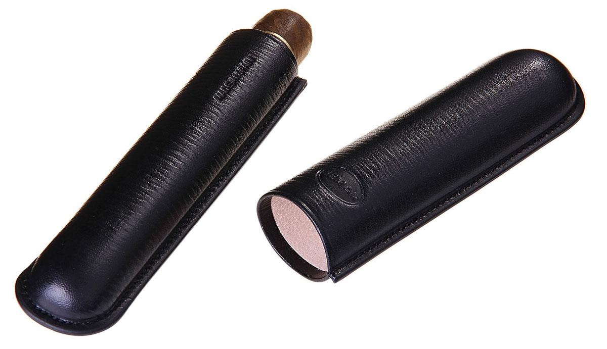 Портсигар Jemar, для 1 сигары диаметром 2,1 см. 711961Натуральная кожаЭлегантный портсигар Jemar выполнен в виде футляра изнатуральной кожи. Изделие рассчитано на 1 сигару.Футляр для переноски сигар - неотъемлемая составляющая церемониала курениясигар, очень важная деталь, которая привносит в процесс особый шик.Портсигар Jemar послужит прекрасным подарком для тонких ценителей техсамых небольших мелочей, которые придают имиджу неповторимую изысканностьи индивидуальность вашей жизни.Размер портсигара: 14,5 см х 4 см х 2,5 см.Диаметр отверстия для сигары: 2,1 см.