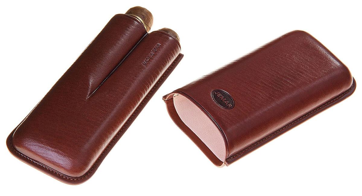 Портсигар Jemar, для 2 сигар диаметром 2,1 см. 711963Натуральная кожаЭлегантный портсигар Jemar выполнен в виде футляра изнатуральной кожи. Изделие рассчитано на 2 сигары.Футляр для переноски сигар - неотъемлемая составляющая церемониала курениясигар, очень важная деталь, которая привносит в процесс особый шик.Портсигар Jemar послужит прекрасным подарком для тонких ценителей техсамых небольших мелочей, которые придают имиджу неповторимую изысканностьи индивидуальность вашей жизни.Размер портсигара: 13 см х 6 см х 3 см.Диаметр отверстия для сигары: 2,1 см.