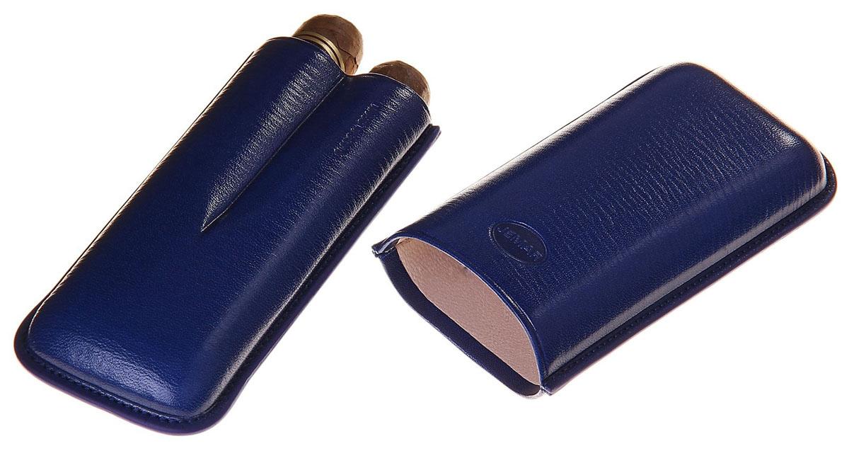 Портсигар Jemar, для 2 сигар диаметром 2,1 см. 711966Натуральная кожаЭлегантный портсигар Jemar выполнен в виде футляра из натуральной кожи. Изделие рассчитано на 2 сигары.Футляр для переноски сигар - неотъемлемая составляющая церемониала курения сигар, очень важная деталь, которая привносит в процесс особый шик.Портсигар Jemar послужит прекрасным подарком для тонких ценителей тех самых небольших мелочей, которые придают имиджу неповторимую изысканность и индивидуальность вашей жизни.Размер портсигара: 13 см х 6 см х 3 см.Диаметр отверстия для сигары: 2,1 см.