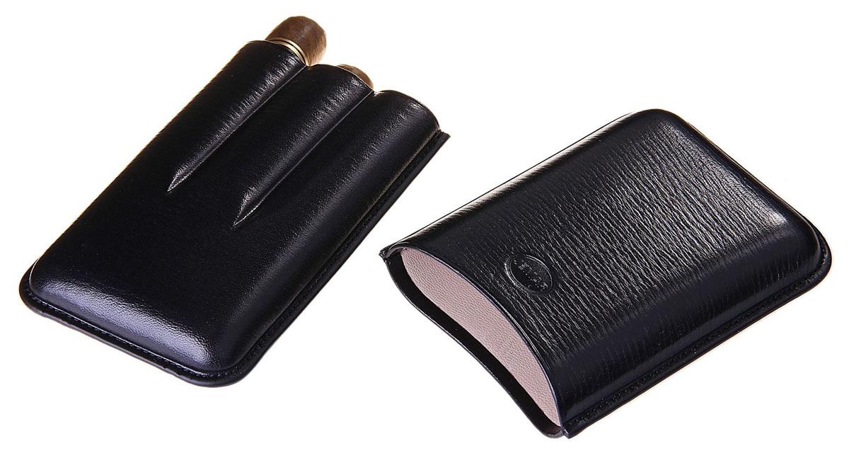 Портсигар Jemar, для 3 сигар диаметром 2,1 см. 711970Натуральная кожаЭлегантный портсигар Jemar выполнен в виде футляра из натуральной кожи. Изделие рассчитано на 3 сигары.Футляр для переноски сигар - неотъемлемая составляющая церемониала курения сигар, очень важная деталь, которая привносит в процесс особый шик.Портсигар Jemar послужит прекрасным подарком для тонких ценителей тех самых небольших мелочей, которые придают имиджу неповторимую изысканность и индивидуальность вашей жизни.Размер портсигара: 13,5 см х 9 см х 3 см.Диаметр отверстия для сигары: 2,1 см.