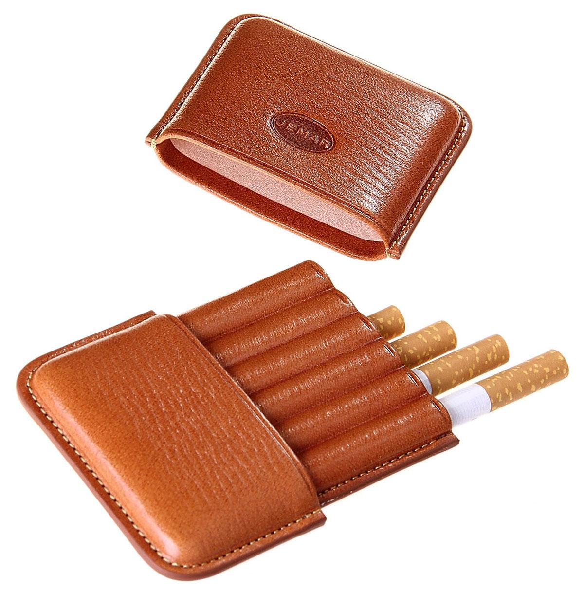 Портсигар Jemar, для 6 сигарет. 711980Натуральная кожаЭлегантный портсигар Jemar выполнен в виде футляра из натуральной кожи. Изделие рассчитано на 6 сигарет.Футляр для переноски сигарет - неотъемлемая составляющая церемониала курения сигар, очень важная деталь, которая привносит в процесс особый шик.Портсигар Jemar послужит прекрасным подарком для тонких ценителей тех самых небольших мелочей, которые придают имиджу неповторимую изысканность и индивидуальность вашей жизни.Размер портсигара: 10 см х 7 см х 1,3 см.