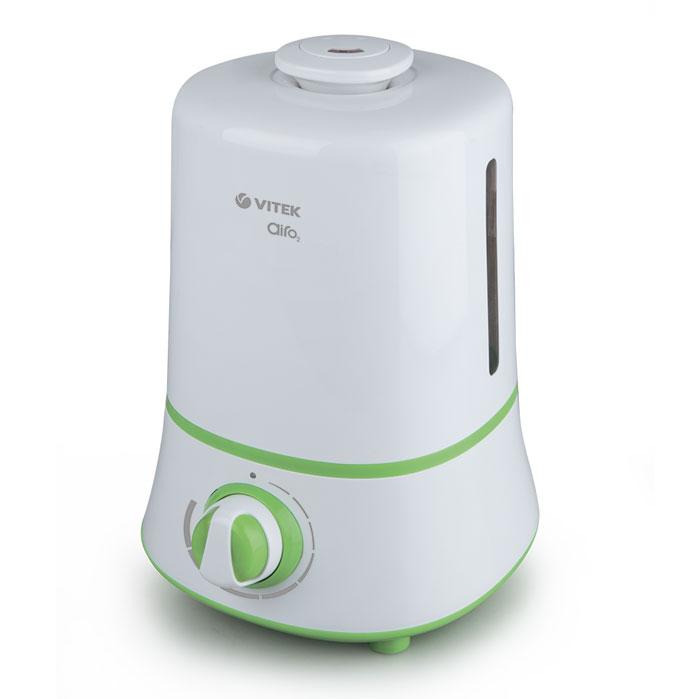 Vitek VT-2351(W) увлажнитель воздухаVT-2351(W)В отопительный период воздух в помещении становится сухим, что негативно сказывается и на состоянии кожи, и на состоянии всего человеческого организма. Забыть о подобных неприятностях вам помогут увлажнитель воздуха Vitek VT-2351(W). Пользоваться увлажнителем воздуха Vitek VT-2351(W) особенно приятно. В устройстве с механическим управлением при помощи поворотных переключателей вы можете отрегулировать скорость вращения вентилятора и интенсивность испарения воды, а также направление увлажнения.Увлажнитель воздуха Vitek VT-2351(W) отличается изысканным внешним видом. Модель данной линейки превратится в элегантное дополнение любого помещения. Стильный внешний вид устройства позволит установить его даже на видном месте.