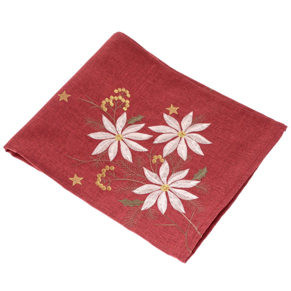Скатерть Schaefer, квадратная, цвет: бордовый, 85x 85 см. 07160-10007160-100Скатерть Schaefer выполнена из высококачественного полиэстера и декорирована серебристо-золотистой цветочной вышивкой.Изделия из полиэстера легко стирать: они не мнутся, не садятся и быстро сохнут, они более долговечны, чем изделия из натуральных волокон. Вы можете использовать скатерть для декорирования стола, комода, журнального столика. В любом случае она добавит в ваш дом стиля, изысканности и неповторимости.Идеальный вариант для подарка вашим друзьям и близким.