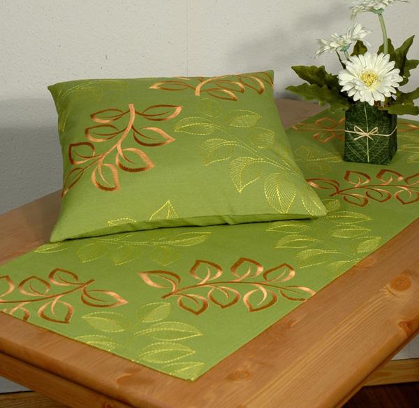 Дорожка для декорирования стола Schaefer, прямоугольная, цвет: зеленый, 40 x 140 см 06715-211