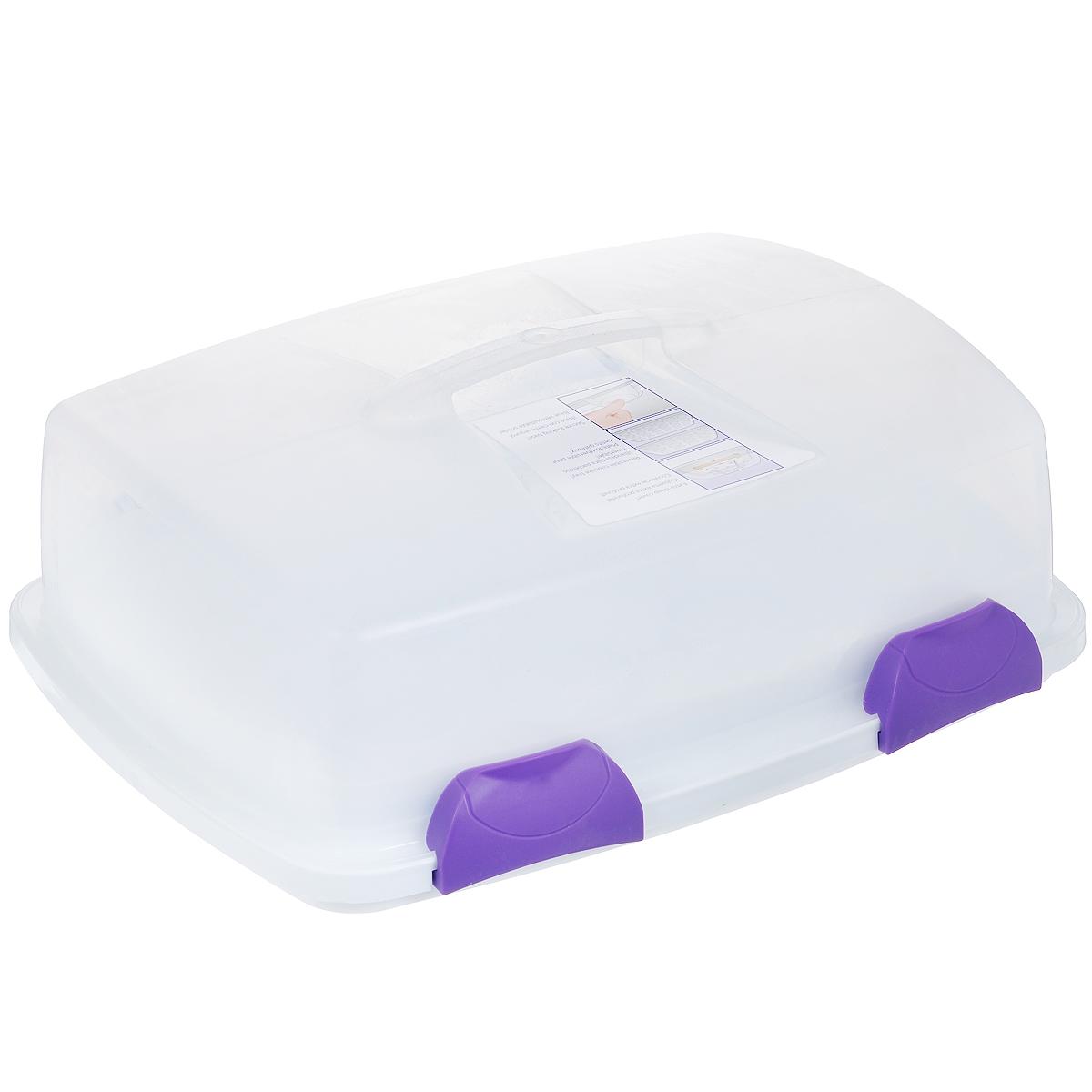 Переноска 3 в 1 Wilton, прямоугольная, 45,5 см х 36,5 см х 17 смWLT-2105-9958Переноска 3 в 1 Wilton выполнена из высококачественного пищевого пластика. Высокая пластиковая прозрачная крышка контейнера имеет 4 защелки с блокировкой, которые удерживают основание надежно вместе. Удобная ручка обеспечивает необходимый захват для безопасного путешествия от вашего автомобиля на вечеринку. Переноска имеет двусторонний лоток, который вмещает 24 мини и 12 стандартных кексов. Также можно переносить торт размерами 23 см х 33 см. Прозрачная крышка имеет высокие стороны, так что ваши украшения на торте будут защищены. Перевозите торты и украшенные десерты с легкостью!