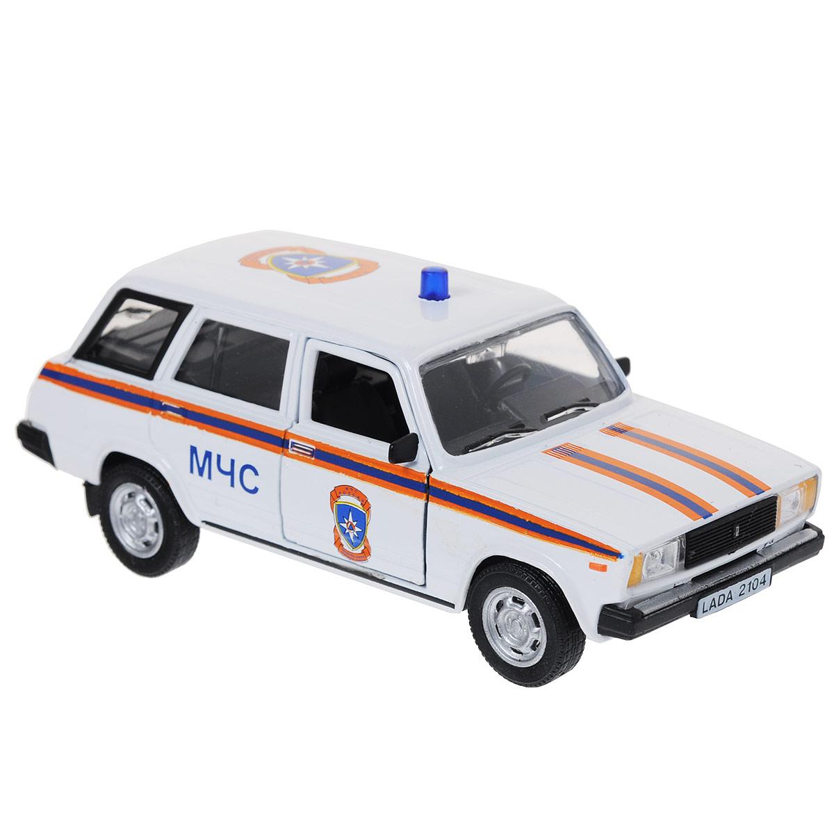 Модель автомобиля LADA 2104: МЧС. Масштаб 1/36 autotime модель автомобиля uaz 39625 мчс россии