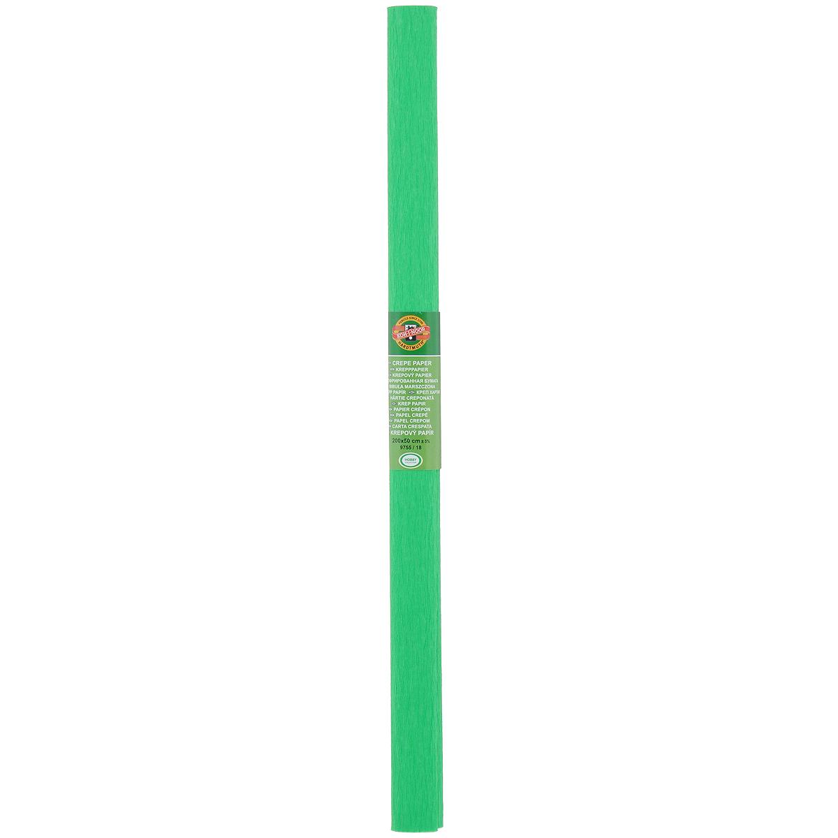Бумага гофрированная Koh-I-Noor, цвет: зеленый, 50 см x 2 м9755/18Гофрированная бумага Koh-I-Noor - прекрасный материал для декорирования, изготовления эффектной упаковки и различных поделок. Бумага прекрасно держит форму, не пачкает руки, отлично крепится и замечательно подходит для изготовления праздничной упаковки для цветов.