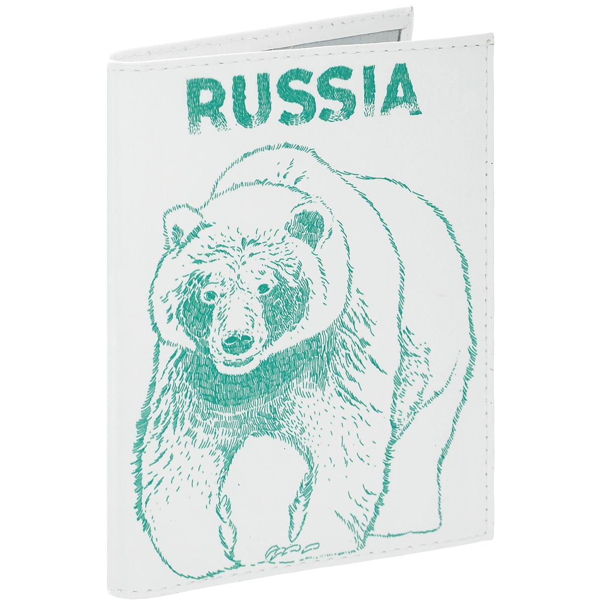 Обложка для автодокументов Медведь. AUTO301Натуральная кожаОбложка для автодокументов Mitya Veselkov Медведь изготовлена из натуральной высококачественной кожи и оформлена изображением медведя и надписью Russia. На внутреннем развороте имеются съемный блок из шести прозрачных файлов из мягкого пластика для водительских документов, а также два боковых кармашка для визиток или банковских карт.Стильная обложка не только поможет сохранить внешний вид ваших документов и защитить их от грязи и пыли, но и станет аксессуаром, который подчеркнет вашу яркую индивидуальность.