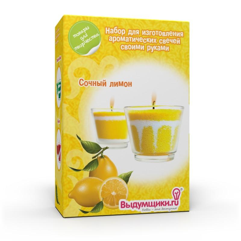 """Набор для изготовления ароматических свечей """"Сочный лимон"""". 2700770019599, Выдумщики"""