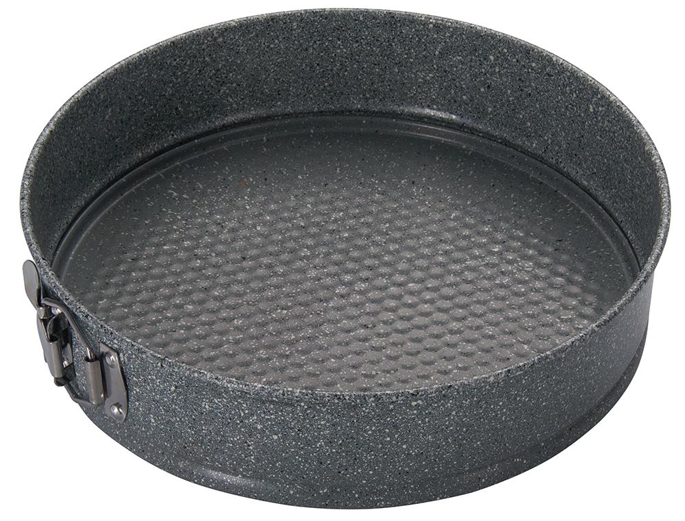 Форма для выпечки Regent Inox Linea Easy разъемная, круглая, с антипригарным покрытием, цвет: серый, диаметр 28 см93-CS-EA-25-06Круглая форма для выпечки Regent Inox Linea Easy выполнена из углеродистой стали с двухсторонним антипригарным покрытием. Форма имеет разъемный механизм, благодаря чему готовое блюдо очень легко вынимать из формы. Блюда не пригорают и не прилипают к стенкам. Такая форма значительно экономит время по сравнению с аналогичными формами для выпечки. С формой для выпечки Regent Inox готовить любимые блюда станет еще проще. Перед первым применением форму вымыть и смазать маслом. Максимальная температура нагрева 250°С. Можно мыть в посудомоечной машине.Диаметр формы: 28 см. Высота стенки: 7 см.