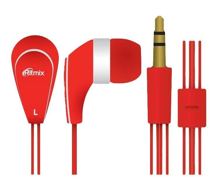 Ritmix RH-181, Red наушникиRH-181, RedRitmix RH-181 – это портативные наушники-вкладыши с плоским проводом. Модель характеризуется качественным сбалансированным звучанием.