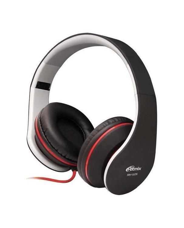 Ritmix RH-505 наушникиRH-505 ЧерныеRitmix RH-505 - качественные мониторные наушники с классическим оголовьем для вашего устройства, надежно прижимающим динамики к ушам и распределяющим нагрузку по всей голове. Удобная «посадка» обеспечивает долгое, комфортное ношение. Внушительных размеров динамики передают чистый звук с выразительными низами и звонкими верхами. Ritmix RH-505 отлично подходят как для прослушивания музыки всех жанров, радио, игр, так и для просмотра видеороликов и фильмов.
