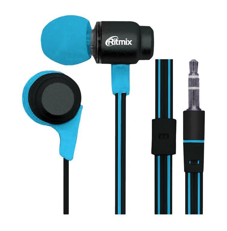 Ritmix RH-185, Black Blue наушникиRH-185, Black BlueRitmix RH-185 – это портативные наушники-вкладыши с плоским проводом, выполненные в алюминиевом корпусе эргономичного дизайна. Помимо стильного внешнего вида модель характеризуется качественным сбалансированным звучанием.