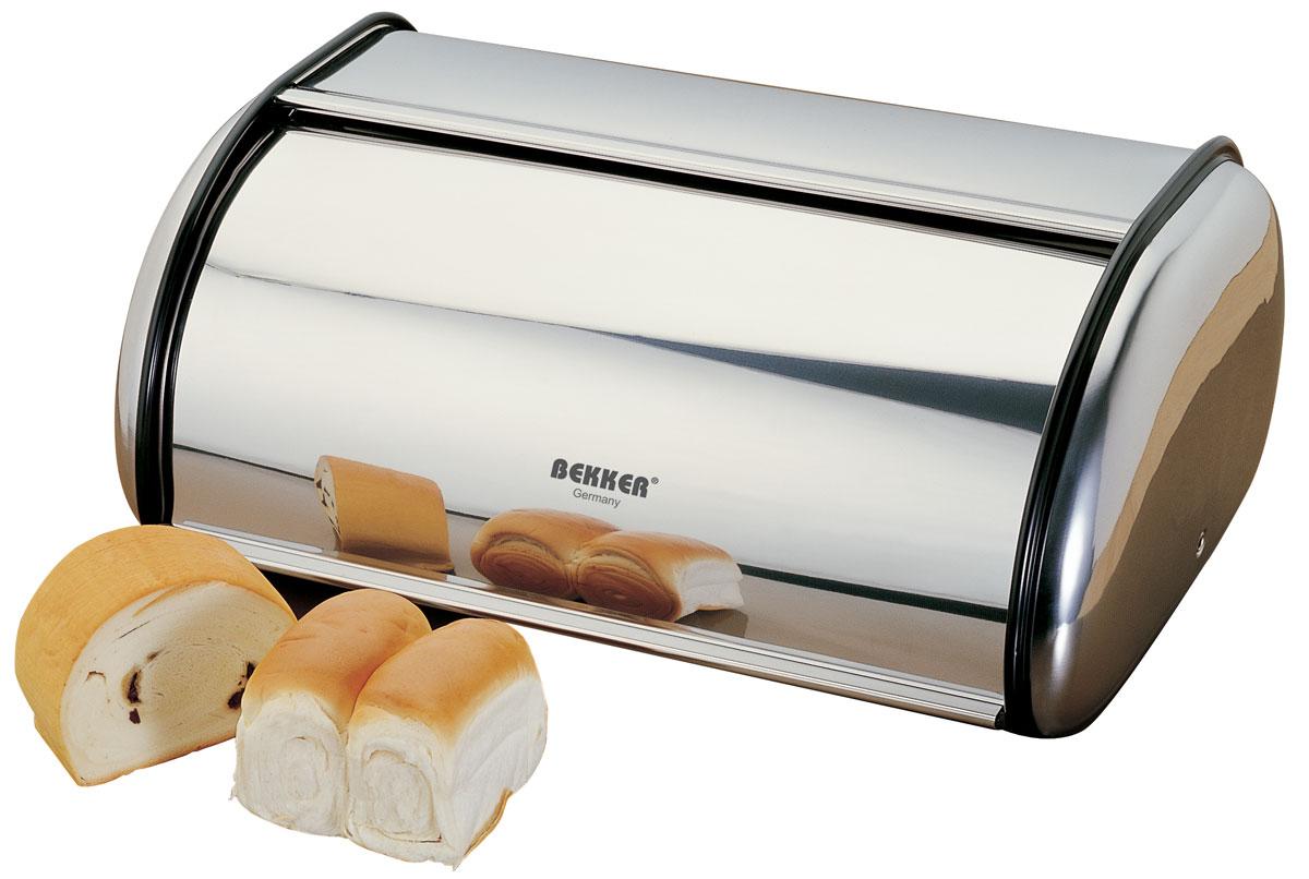 Хлебница Bekker, 42 см х 26 см х 19 смBK-3014 (4)Хлебница Bekker изготовлена из высококачественной нержавеющей стали с зеркальной поверхностью. Хлебница предназначена для хранения хлеба, чипсов, кексов и других хлебобулочных изделий. В ней продукты долго сохраняют привлекательный внешний вид, остаются свежими и хрустящими. Металлическая крышка плавно открывается и герметично закрывается. Вместительность, функциональность и стильный дизайн позволят хлебнице стать не только незаменимым аксессуаром на кухне, но и предметом украшения интерьера. В ней хлеб всегда останется свежим и вкусным.
