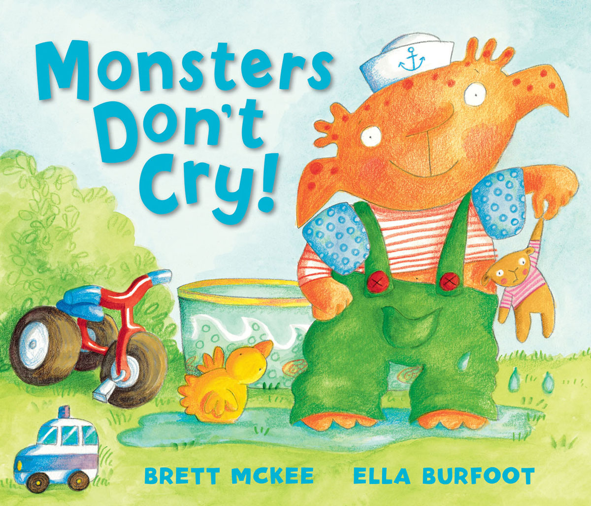 Monsters Don't Cry! romping monsters stomping monsters