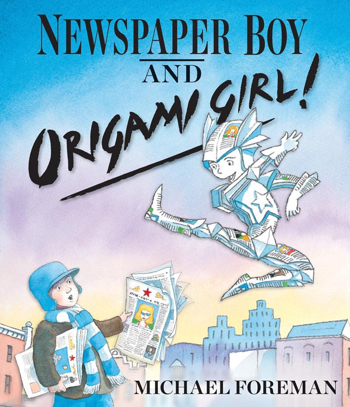 Newspaper Boy and Origami Girl john escott girl on a motorcycle