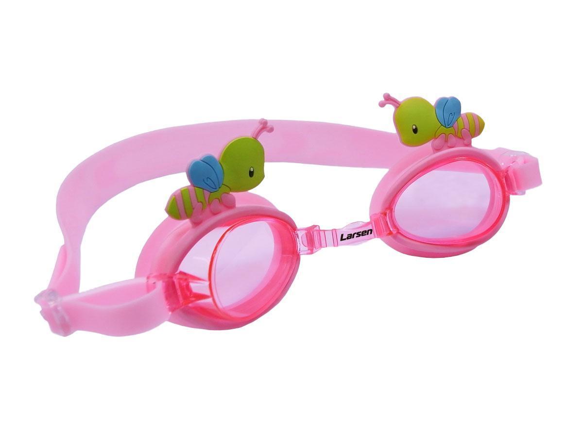 Очки плавательные Larsen Пчелка, цвет: розовый236094
