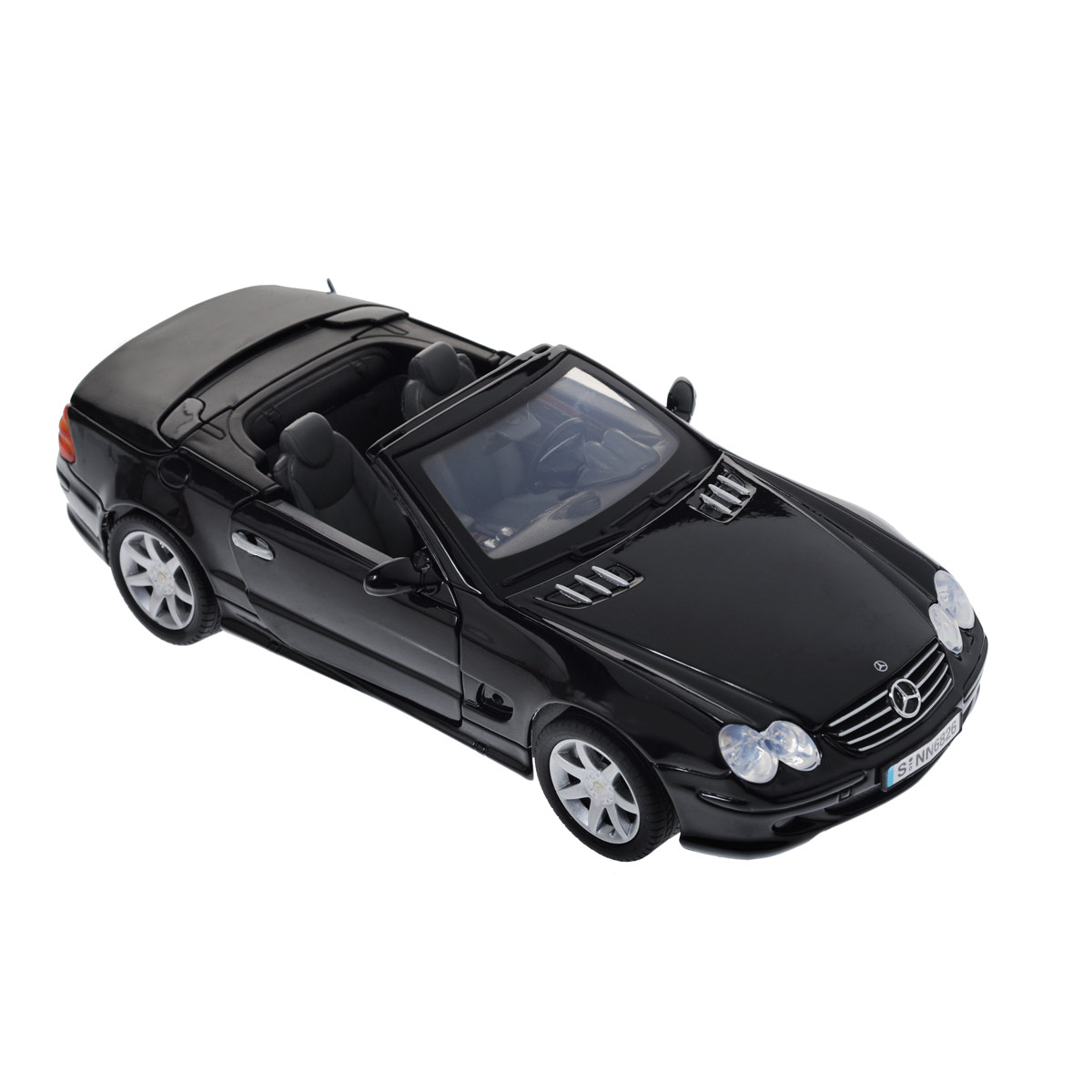 Autotime Коллекционная модель автомобиля Mercedes Benz SL500, цвет: черный. Масштаб 1/18 welly mercedes benz sl500 1 18
