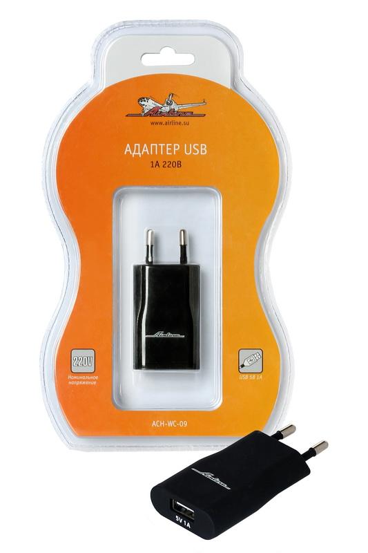 Адаптер USB Airline, 1 А, 220В - Универсальные переходники
