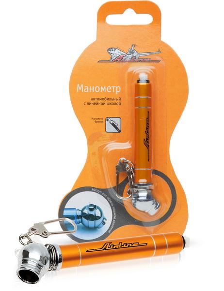 Манометр автомобильный Airline, с линейной шкалой, 3,5 АтмAPR-L-01Автомобильный манометр Airline предназначен для измерения давления в шинах автомобиля. Измеренные показания фиксируются. Имеется выступ для сброса лишнего давления.