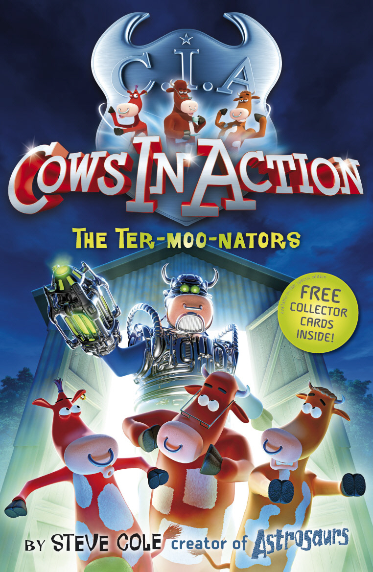 Cows in Action 1: The Ter-moo-nators portable ultra bright waterproof aluminum alloy mini led flashlight