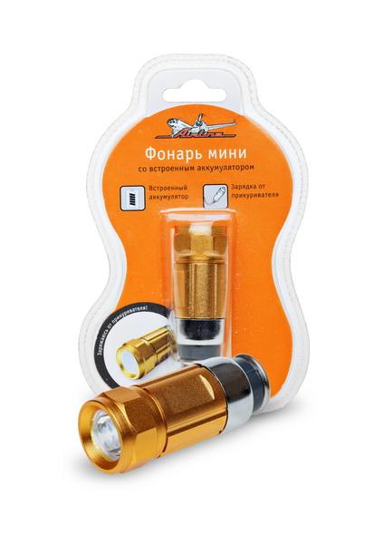 Фонарь светодиодный Airline, с зарядкой от прикуривателяAFL-1-02Светодиодный фонарь Airline предназначен для локального освещения предметов. Высокопроизводителен, компактен. Фонарь оснащен ярким белым светодиодом, который экономно расходуют энергию батареи.Фонарь оснащен встроенным Ni-MH аккумулятором, который заряжается от гнезда прикуривателя 12В.