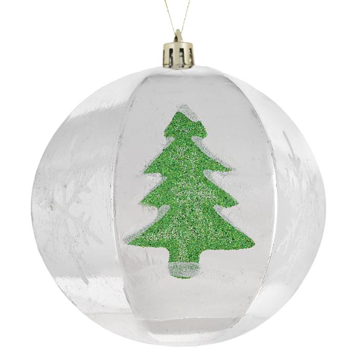 Набор новогодних подвесных украшений Sima-land Шар, цвет: серебристый, диаметр 10 см, 2 шт. 799470799470