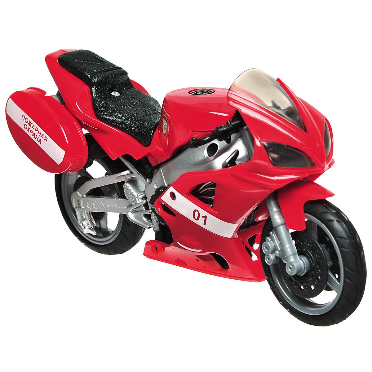 Autotime Игрушка Мотоцикл Пожарная охрана, цвет: красный, серебристый машинки autotime машина bavaria gran turismo пожарная охрана