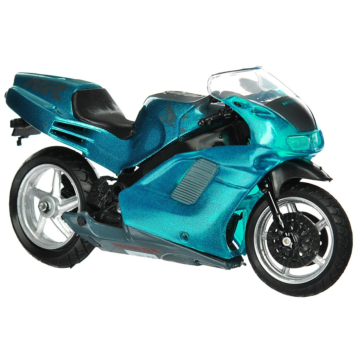 Autotime Коллекционная модель мотоцикла Honda NR, цвет: темно-бирюзовый. Масштаб 1/18 autotime коллекционная модель автомобиля saleen s7 цвет оранжевый масштаб 1 18