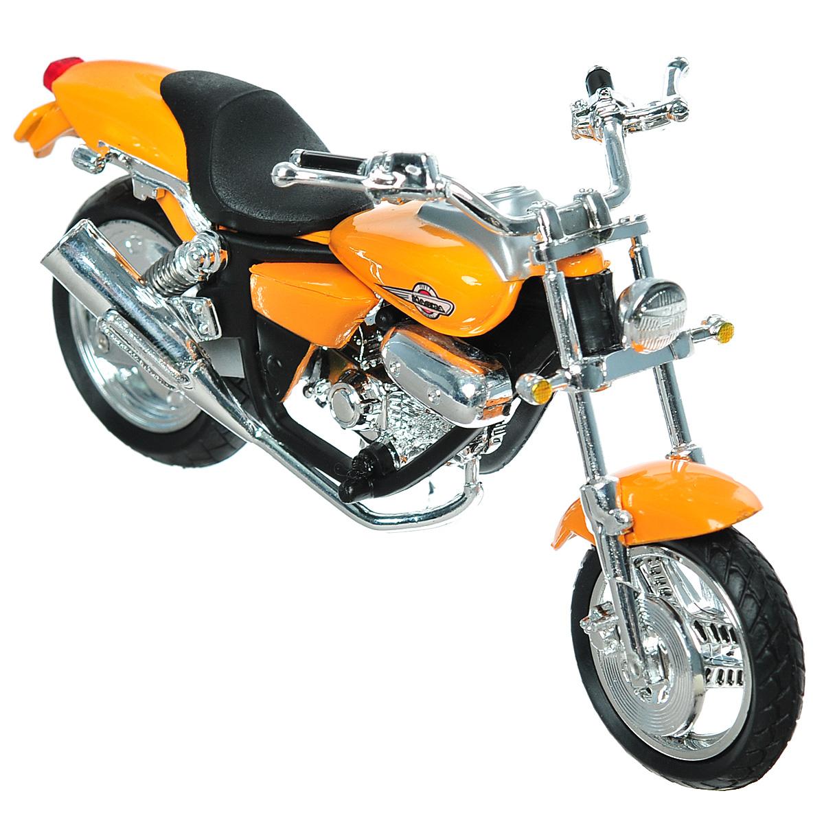 Autotime Коллекционная модель мотоцикла Honda Magna, цвет: оранжевый. Масштаб 1/18