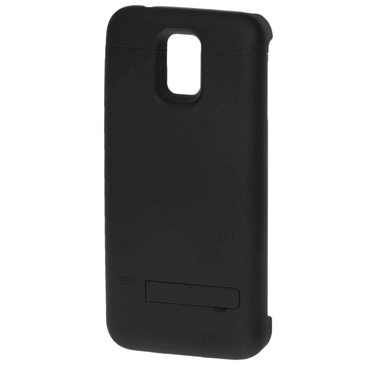 EXEQ HelpinG-SC08 чехол-аккумулятор для Samsung Galaxy S5, Black (3300 мАч, клип-кейс)HelpinG-SC08 BLExeq HelpinG-SС08 – универсальный аксессуар, благодаря которому ваш смартфон не только будет надежно защищен, но и обеспеченсвоевременной подзарядкой! Exeq HelpinG-SС08 выполнен из прочного прорезиненного пластика, который надежно защитит смартфон от ударов,царапин и загрязнений. Встроенный аккумулятор емкостью в 3300 мАч обеспечит своевременную подзарядку батареи смартфона в самыенеобходимые моменты его использования.Также чехол Exeq HelpinG-SС08 оборудован встроенной подставкой, которая позволит надежно закрепить телефон в горизонтальном положении,например для просмотра видео, чтения электронных книг. Заряжается чехол-аккумулятор Exeq HelpinG-SС08 от зарядного устройства телефона,причем заряжать оба устройства можно не извлекая телефон из чехла. Так для зарядки телефона просто подсоедините зарядное устройства кчехлу и нажмите кнопку питания на чехле, а для зарядки чехла просто подсоедините зарядное устройство к нему. Аналогично происходит иподключение телефона к компьютеру – чехол-аккумулятор Exeq HelpinG обеспечивает идеальную передачу данных между смартфоном и другимиэлектронными устройствами.